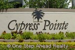 sign for Cypress Pointe