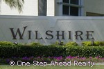 sign for Wilshire