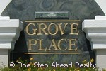 sign for Grove Place