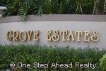 sign for Grove Estates